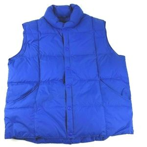 Lands' End Mens XL Snap Button Puffer Vest Jacket